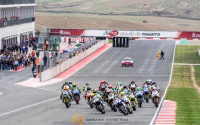 Loïc Arbel y Alex Ruiz terminan décimo tercero y décimo noveno en el Circuito de Navarra tras una carrera complicada