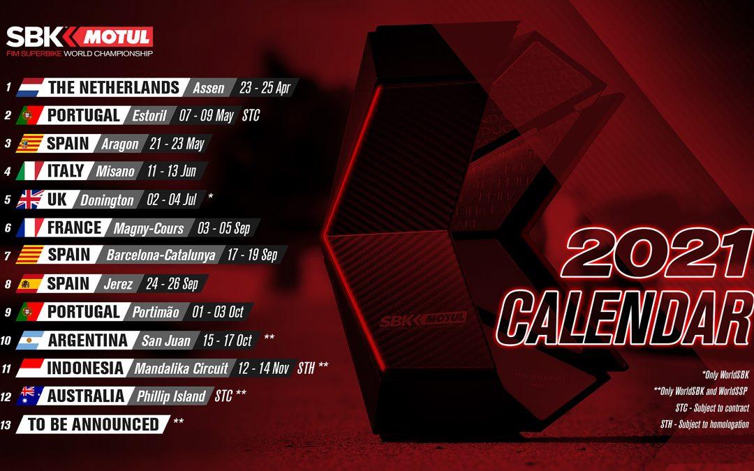 Calendario provisional del WorldSBK 2021
